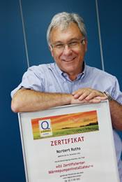 ESR-BOLENDER ist offiziell ausgezeichnet als EU zertifizierten Wärmepumpeninstallateur