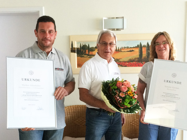 SimoneGeritan und MarkusAltenhofen feiern ihr 25-jähriges Dienstjübiläum