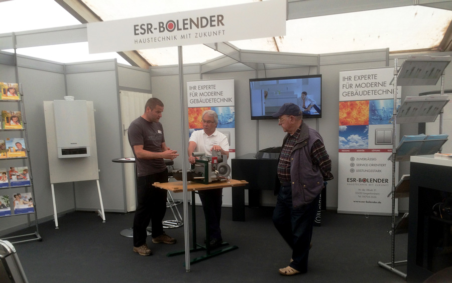 ESR-BOLENDER präsentiert sich auf der Gewerbeschau Langenlonsheim